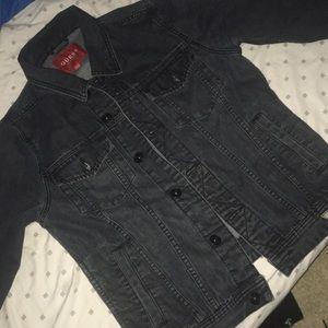 Blackish gray guess jean jacket